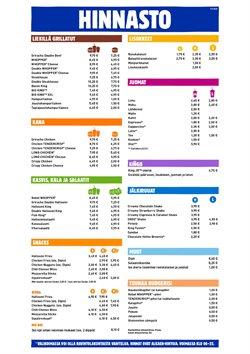 Ravintolat tarjoukset Burger King kuvastossa Turku ( 26 päivää jäljellä )