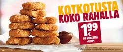 Tarjouksia yritykseltä Burger King kaupungissa Helsinki lehtisiä