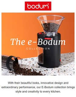 Tarjouksia yritykseltä Bodum kaupungissa Bodum lehtisiä ( Vanhenee pian)