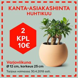 Tarjouksia yritykseltä Plantagen kaupungissa Nurmijärvi lehtisiä