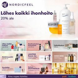 Tarjouksia yritykseltä Kosmetiikka ja Kauneus kaupungissa Nordicfeel lehtisiä ( Vanhenee tänään)