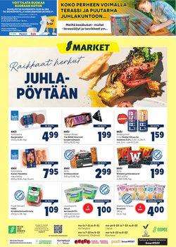 Tarjouksia yritykseltä S-Market kaupungissa S-Market lehtisiä ( Vanhenee tänään)