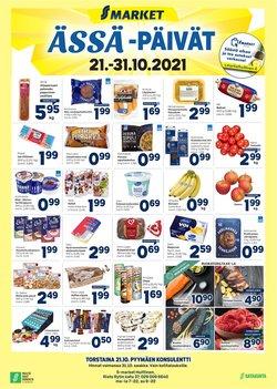 Tarjouksia yritykseltä Supermarket kaupungissa S-Market lehtisiä ( Vanhenee tänään)