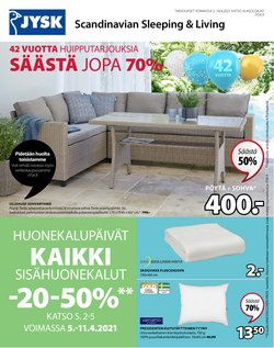 Koti ja Huonekalut tarjoukset JYSK kuvastossa Helsinki ( Vanhenee pian )