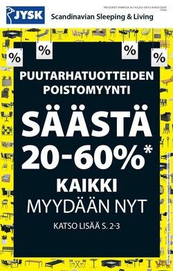 Tarjouksia yritykseltä Koti ja Huonekalut kaupungissa JYSK lehtisiä ( Julkaistu eilen)