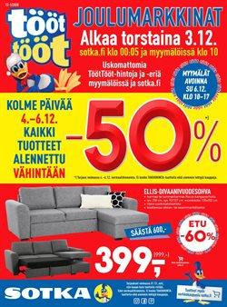 Koti ja Huonekalut tarjoukset Sotka kuvastossa Lohja ( 2 päivää sitten )
