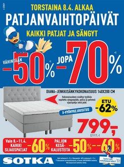 Koti ja Huonekalut tarjoukset Sotka kuvastossa Helsinki ( 4 päivää jäljellä )