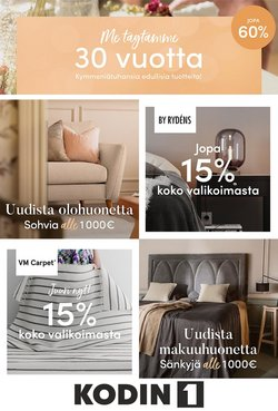 Tarjouksia yritykseltä Kodin1 kaupungissa Kodin1 lehtisiä ( 5 päivää jäljellä)
