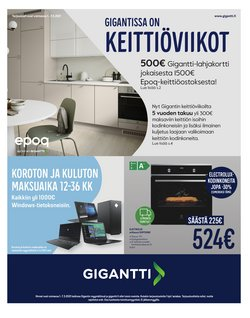 Elektroniikka ja Kodinkoneet tarjoukset Gigantti kuvastossa Tampere ( 2 päivää sitten )