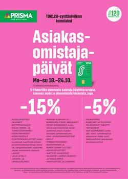 Tarjouksia yritykseltä Elektroniikka ja Kodinkoneet kaupungissa Prisma lehtisiä ( 5 päivää jäljellä)