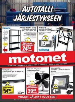 Tarjouksia yritykseltä Motonet kaupungissa Motonet lehtisiä ( 9 päivää jäljellä)