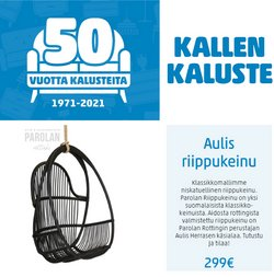 Tarjouksia yritykseltä Kallen Kaluste kaupungissa Kallen Kaluste lehtisiä ( 4 päivää jäljellä)