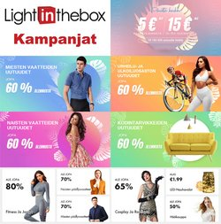Tarjouksia yritykseltä LightInTheBox kaupungissa LightInTheBox lehtisiä ( 6 päivää jäljellä)