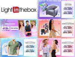 Tarjouksia yritykseltä Vaatteet ja Kengät kaupungissa LightInTheBox lehtisiä ( Julkaistu eilen)