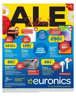 Tarjouksia yritykseltä Elektroniikka ja Kodinkoneet kaupungissa Euronics lehtisiä ( 6 päivää jäljellä)