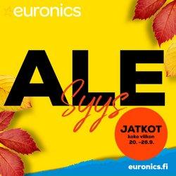 Tarjouksia yritykseltä Euronics kaupungissa Euronics lehtisiä ( Vanhenee tänään)