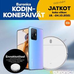 Tarjouksia yritykseltä Elektroniikka ja Kodinkoneet kaupungissa Euronics lehtisiä ( 2 päivää jäljellä)