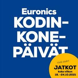 Tarjouksia yritykseltä Elektroniikka ja Kodinkoneet kaupungissa Euronics lehtisiä ( Julkaistu tänään)