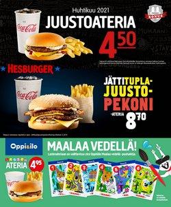 Ravintolat tarjoukset Hesburger kuvastossa Mikkeli ( 13 päivää jäljellä )