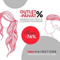 Tarjouksia yritykseltä Kosmetiikka ja Kauneus kaupungissa Hairstore lehtisiä ( 3 päivää jäljellä)