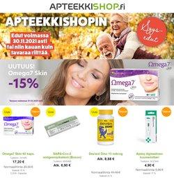 Tarjouksia yritykseltä Terveys ja Optiikka kaupungissa ApteekkiShop.fi lehtisiä ( 5 päivää jäljellä)