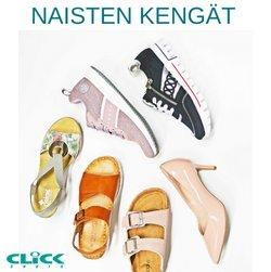 Tarjouksia yritykseltä Click Shoes kaupungissa Click Shoes lehtisiä ( 18 päivää jäljellä)
