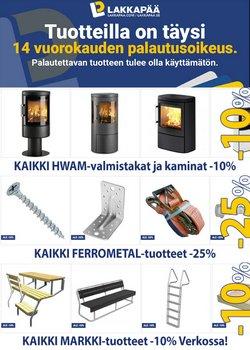 Rautakauppa tarjoukset Lakkapää kuvastossa Iisalmi ( 13 päivää jäljellä )