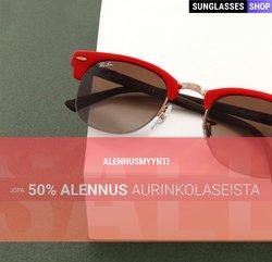 Tarjouksia yritykseltä Sunglasses Shop kaupungissa Sunglasses Shop lehtisiä ( 14 päivää jäljellä)