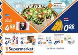 Tarjouksia yritykseltä K-Supermarket kaupungissa K-Supermarket lehtisiä ( Vanhenee tänään)