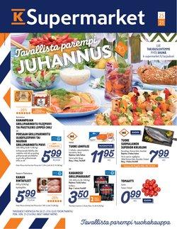 Tarjouksia yritykseltä K-Supermarket kaupungissa K-Supermarket lehtisiä ( 4 päivää jäljellä)