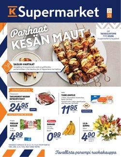 K-Supermarket luettelo, ( Vanhenee pian)