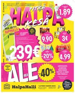 Tarjouksia yritykseltä HalpaHalli kaupungissa HalpaHalli lehtisiä ( Vanhenee tänään)
