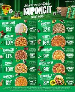 Tarjouksia yritykseltä Ravintolat kaupungissa Kotipizza lehtisiä ( Vanhenee tänään)