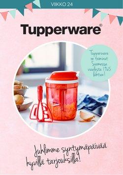 Tarjouksia yritykseltä Koti ja Huonekalut kaupungissa Tupperware lehtisiä ( Vanhenee tänään)
