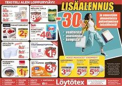 Tarjouksia yritykseltä Löytötex kaupungissa Löytötex lehtisiä ( 5 päivää jäljellä)