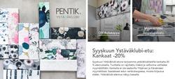 Tarjouksia yritykseltä Pentik kaupungissa Helsinki lehtisiä