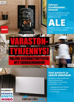 Tarjouksia yritykseltä Talotarvike kaupungissa Talotarvike lehtisiä ( Vanhenee pian)