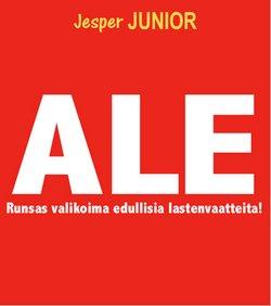 Tarjouksia yritykseltä Lelut ja Vauvat kaupungissa Jesper Junior lehtisiä ( Vanhenee tänään)