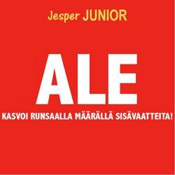 Tarjouksia yritykseltä Lelut ja Vauvat kaupungissa Jesper Junior lehtisiä ( 7 päivää jäljellä)