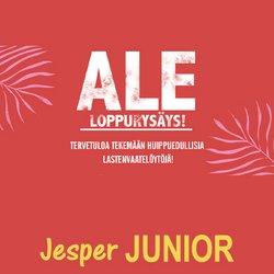 Tarjouksia yritykseltä Lelut ja Vauvat kaupungissa Jesper Junior lehtisiä ( 4 päivää jäljellä)
