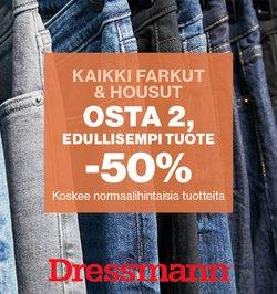 Tarjouksia yritykseltä Dressmann kaupungissa Dressmann lehtisiä ( 9 päivää jäljellä)
