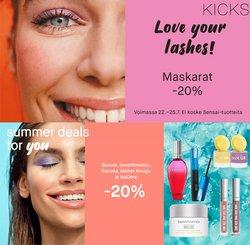 Tarjouksia yritykseltä Kosmetiikka ja Kauneus kaupungissa Kicks lehtisiä ( Vanhenee pian)