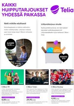Tarjouksia yritykseltä Telia kaupungissa Telia lehtisiä ( Julkaistu eilen)