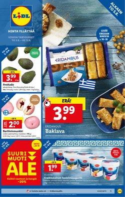 Tarjouksia yritykseltä Supermarket kaupungissa Lidl lehtisiä ( Julkaistu tänään)