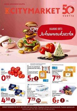 Tarjouksia yritykseltä K-Citymarket kaupungissa K-Citymarket lehtisiä ( Vanhenee tänään)