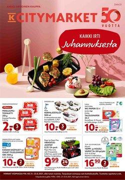 Tarjouksia yritykseltä K-Citymarket kaupungissa K-Citymarket lehtisiä ( 4 päivää jäljellä)