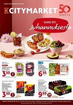 Tarjouksia yritykseltä K-Citymarket kaupungissa K-Citymarket lehtisiä ( Julkaistu tänään)