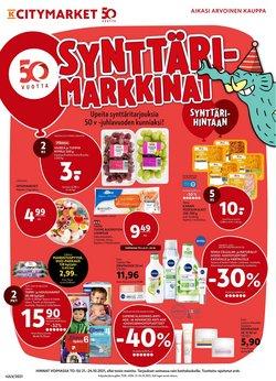 Tarjouksia yritykseltä K-Citymarket kaupungissa K-Citymarket lehtisiä ( Vanhenee pian)
