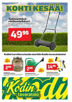 Tarjouksia yritykseltä Kodin Tavaratalo kaupungissa Kodin Tavaratalo lehtisiä ( Vanhentunut)