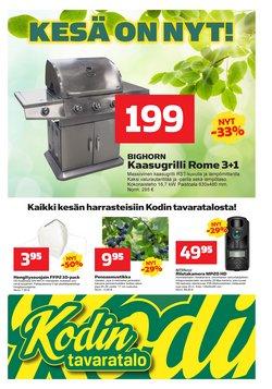 Tarjouksia yritykseltä Kodin Tavaratalo kaupungissa Kodin Tavaratalo lehtisiä ( 2 päivää jäljellä)